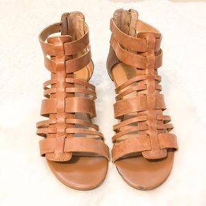 Franco Sarto Zip Gladiator Sandals